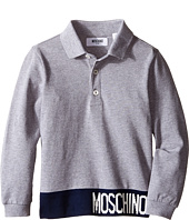 Moschino Kids - Long Sleeve Polo (Little Kids/Big Kids)