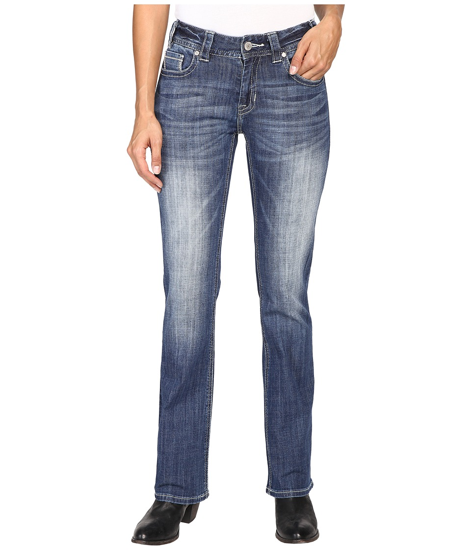 Rock and Roll Cowgirl - Mid-Rise Bootcut in Medium Wash W1-8475 (Medium Wash) Women's Jeans