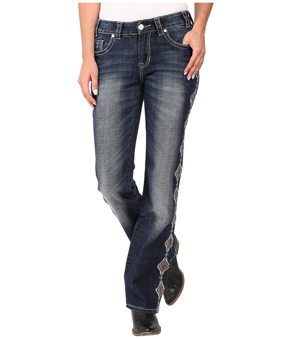 Rock and Roll Cowgirl - Mid-Rise Bootcut in Dark Vintage W1-8472 (Dark Vintage) Women's Jeans