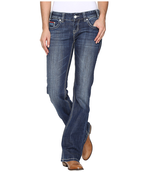 Rock and Roll Cowgirl Low Rise Bootcut in Medium Vintage W0-8462