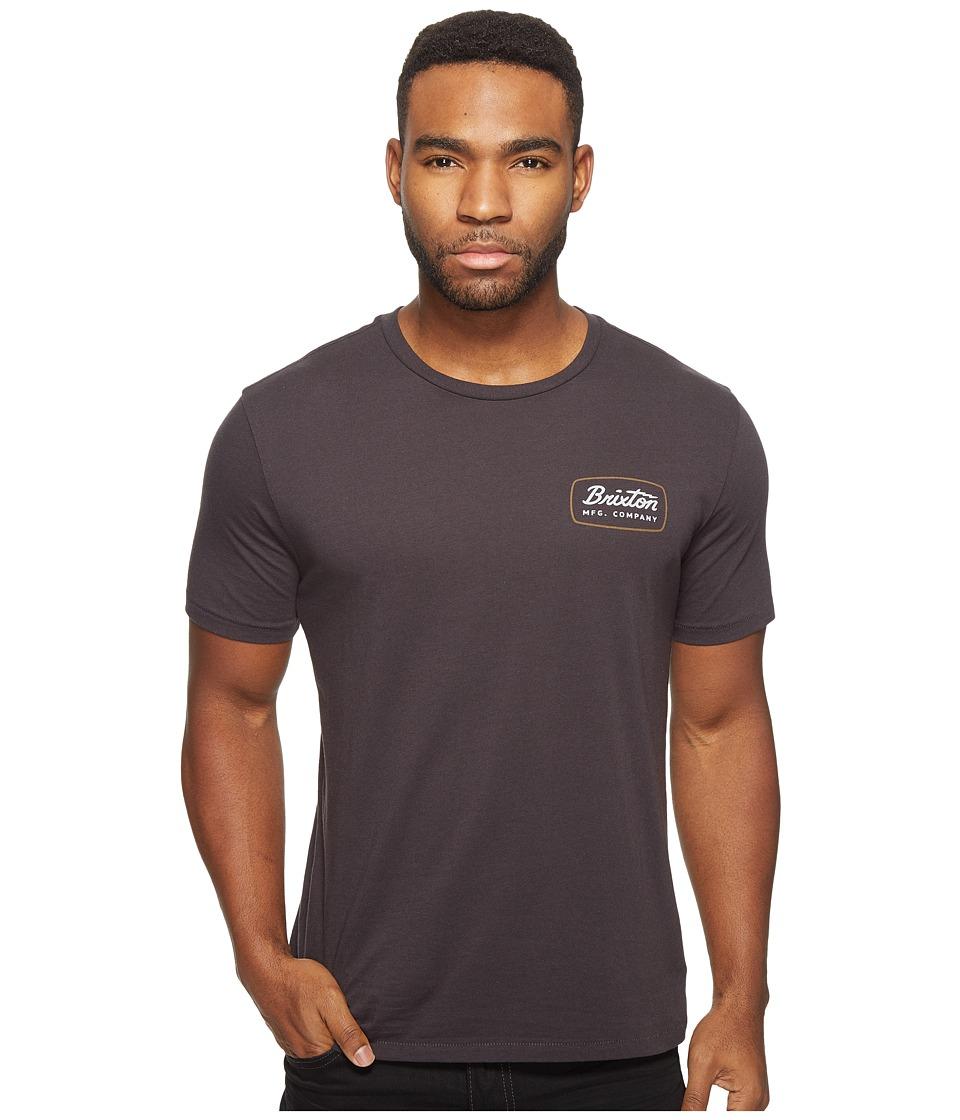 Brixton Jolt Short Sleeve Premium Tee (Washed Black) Men