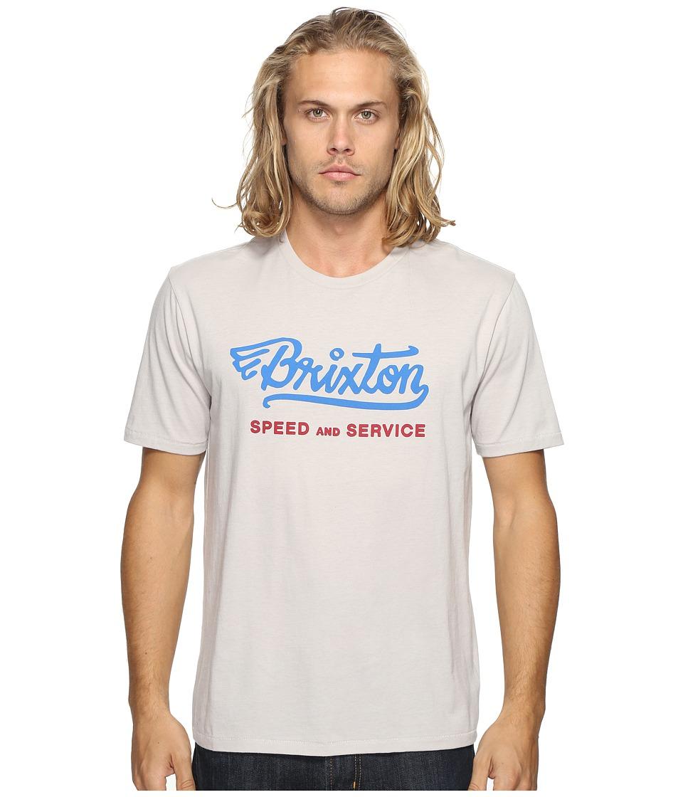Brixton Mach Short Sleeve Premium Tee (Stone) Men