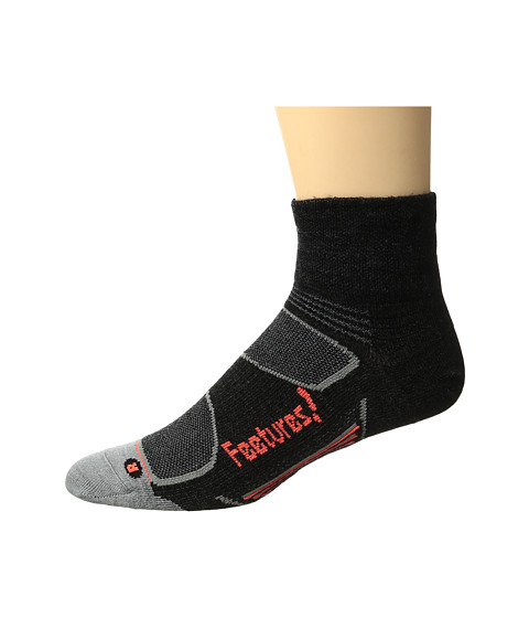 Feetures Elite Merino+ Ultra Light Quarter 3-Pair Pack - Charcoal/Lava