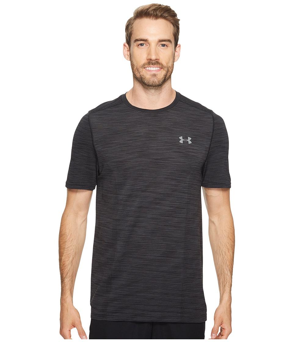 Under Armour - UA Threadborne Knit Short Sleeve (Black) Mens Clothing