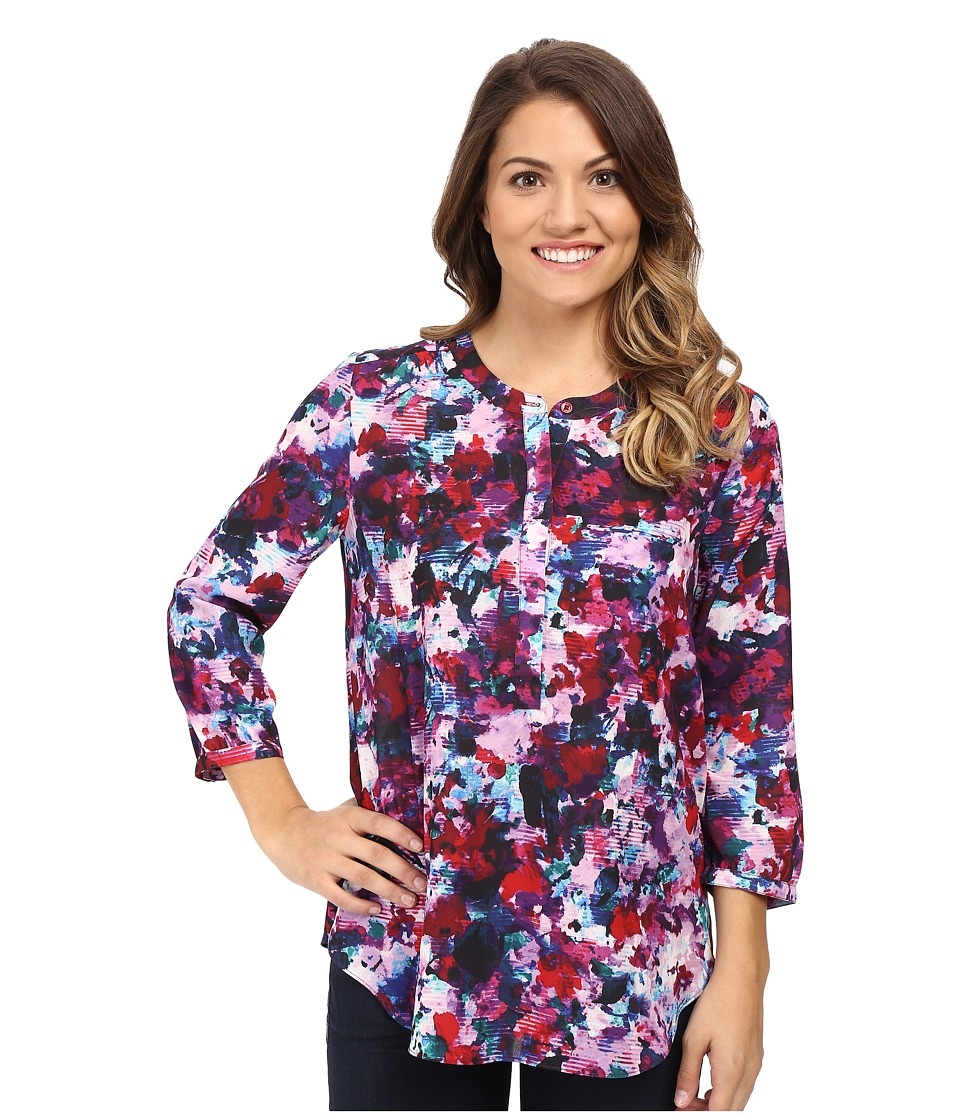 NYDJ Petite - Petite Solid 3/4 Sleeve Pleat Back (Loverly Blossoms) Women