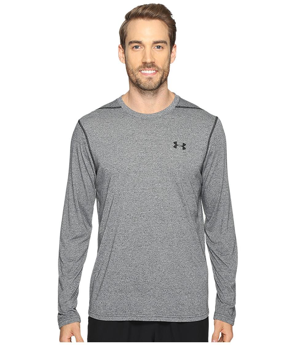 Under Armour - UA Threadborne Long Sleeve (Black 1) Mens Clothing