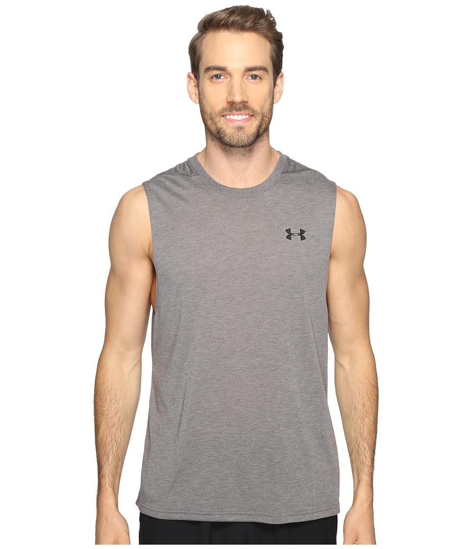 Under Armour - UA Threadborne Muscle Tank Top (Carbon Heather) Mens Sleeveless