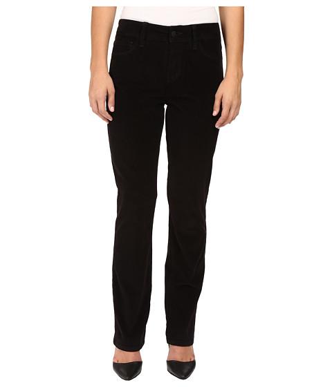 NYDJ Petite Petite Marilyn Straight Jeans in Corduroy in Black - Black