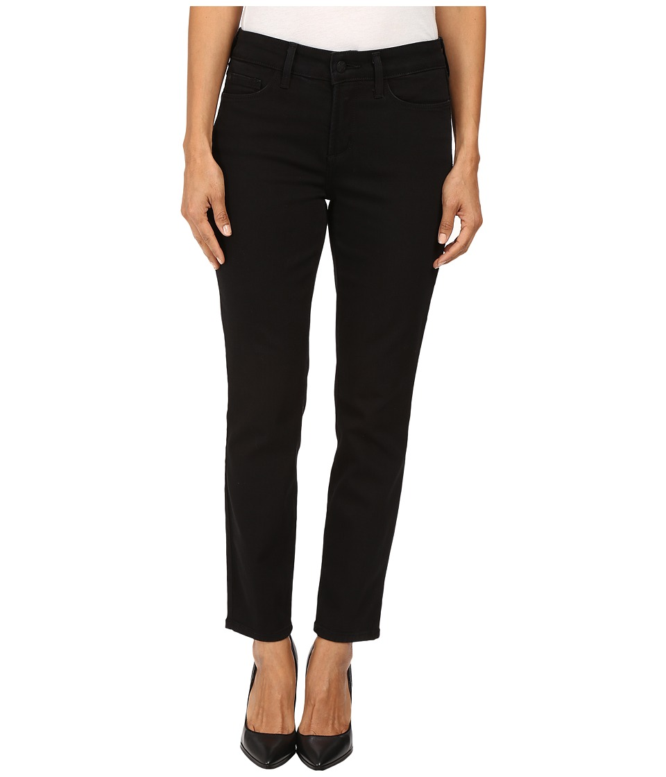 NYDJ Petite Petite Clarissa Skinny Ankle Jeans in Luxury Touch Denim in Black Garment Wash (Black Garment Wash) Women