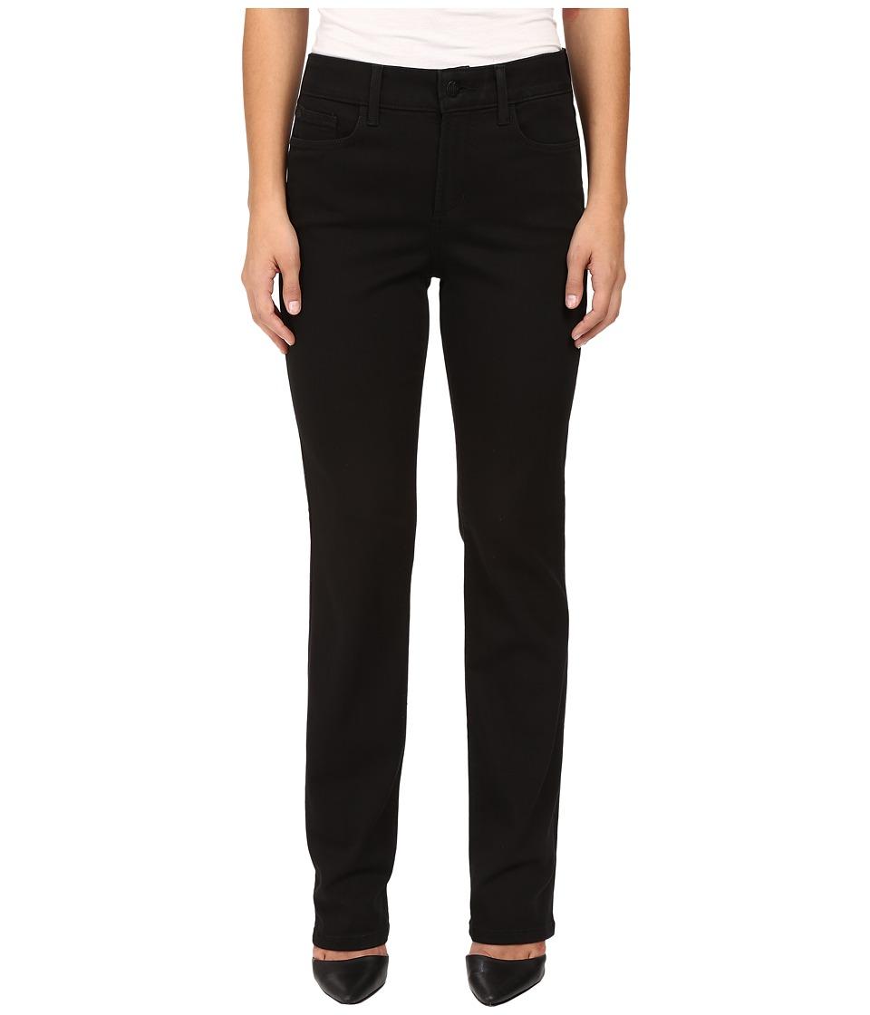 NYDJ Petite Petite Marilyn Straight Jeans in Luxury Touch Denim in Black (Black) Women