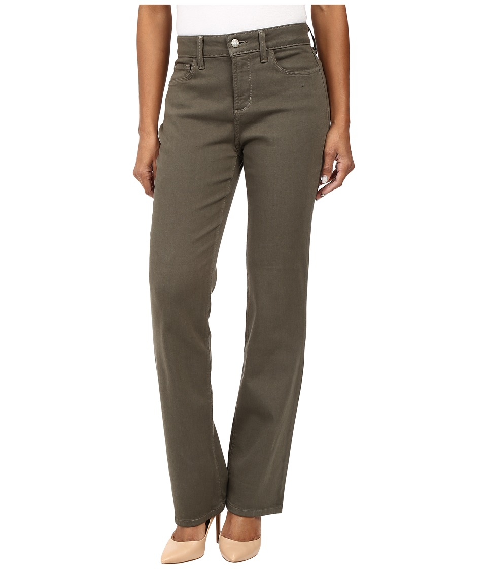 NYDJ Petite Petite Marilyn Straight Jeans in Luxury Touch Denim in Topiary (Topiary) Women