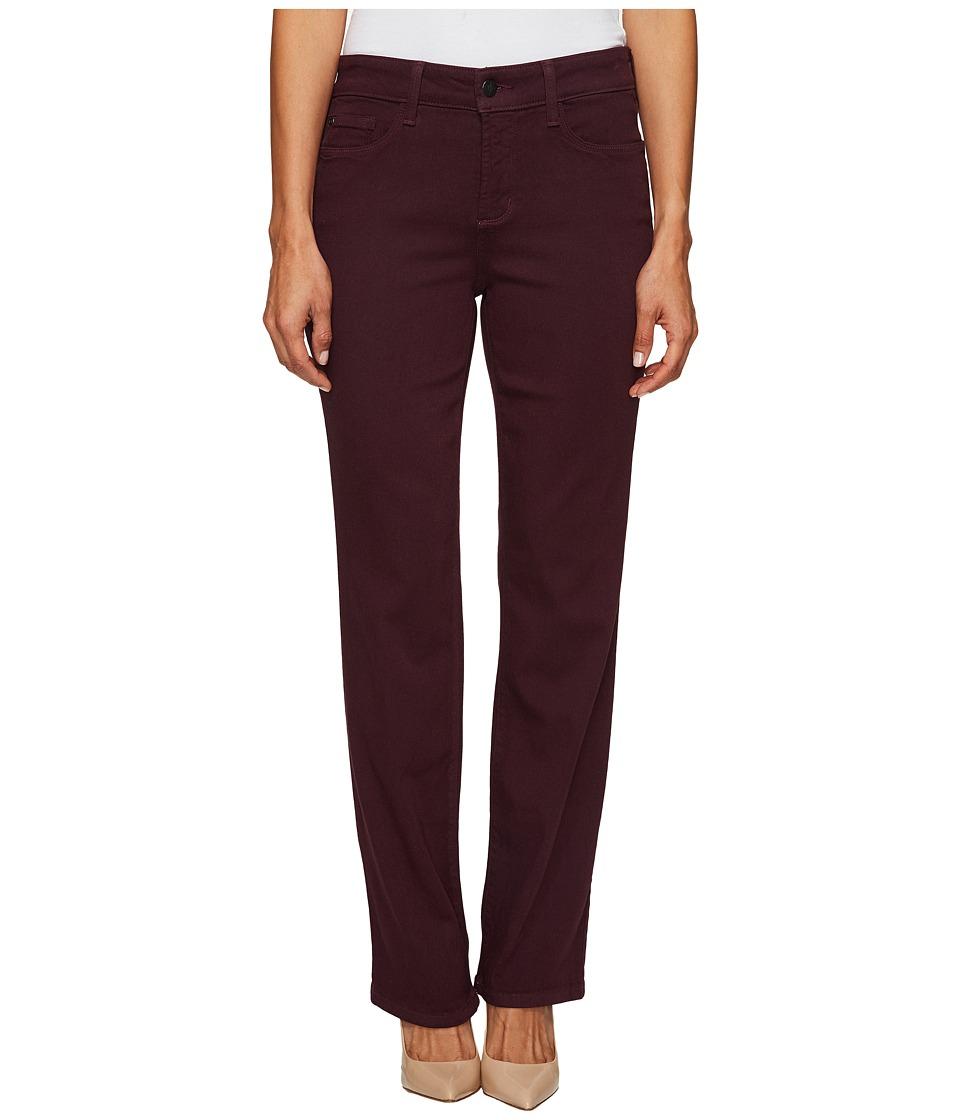 NYDJ Petite Petite Marilyn Straight Jeans in Luxury Touch Denim in Zinfandel (Zinfandel) Women