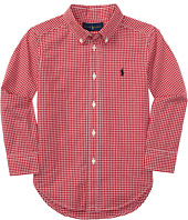 Polo Ralph Lauren Kids - Yarn-Dyed Poplin Long Sleeve Button Down Shirt (Toddler)
