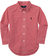 Polo Ralph Lauren Kids - Yarn-Dyed Poplin Long Sleeve Button Shirt (Little Kids/Big Kids)