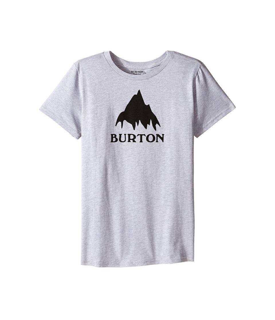 Burton Kids - Classic Mountain S/S Tee (Big Kids) (Gray Heather 2) Boy