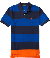 Polo Ralph Lauren Kids - Yarn-Dyed Mesh Stripe Polo Shirt (Little Kids/Big Kids)