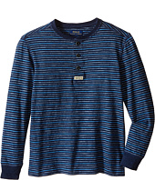 Polo Ralph Lauren Kids - Yarn-Dyed Slub Jersey Henley Shirt (Little Kids/Big Kids)