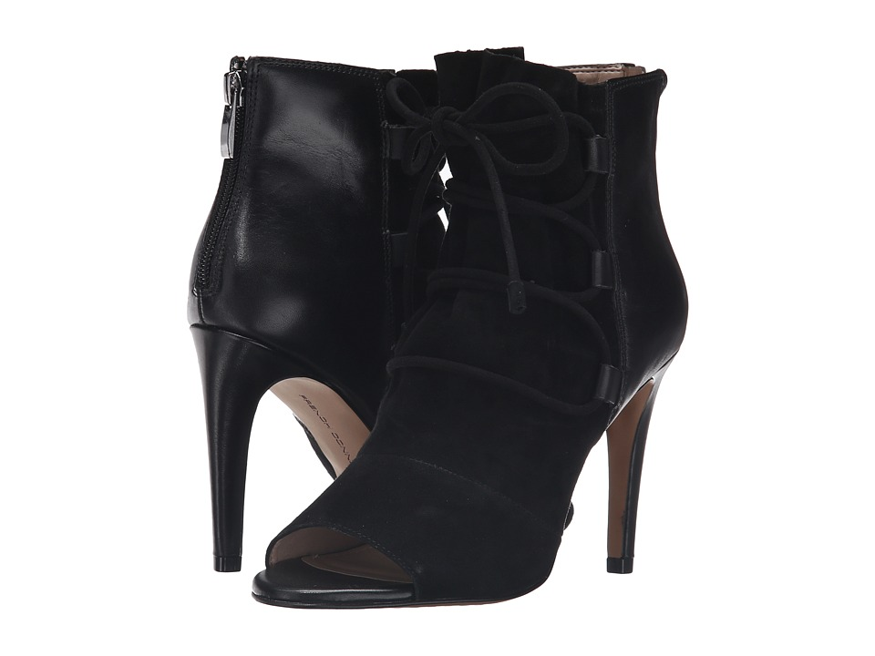 French Connection - Quintina (Black/Black Kid Suede) Women
