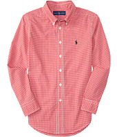 Polo Ralph Lauren Kids - Yarn-Dyed Poplin Long Sleeve Button Down Shirt (Big Kids)
