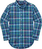 Polo Ralph Lauren Kids - Poplin Plaid Long Sleeve Button Down Shirt (Big Kids)