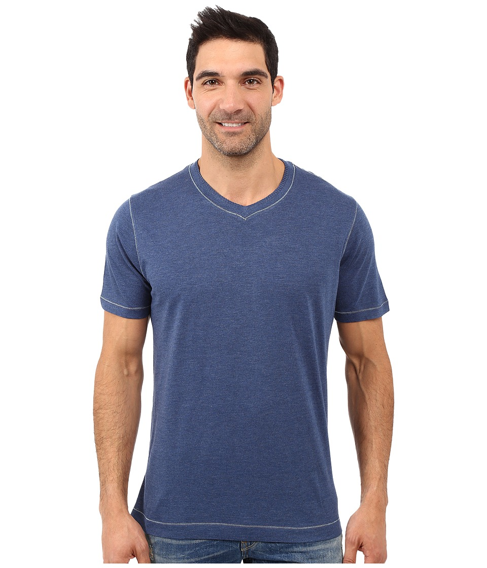 Robert Graham Traveler Tee (Heather Navy) Men