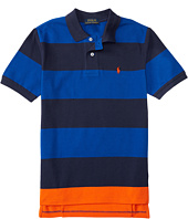 Polo Ralph Lauren Kids - Yarn-Dyed Mesh Stripe Polo Shirt (Big Kids)