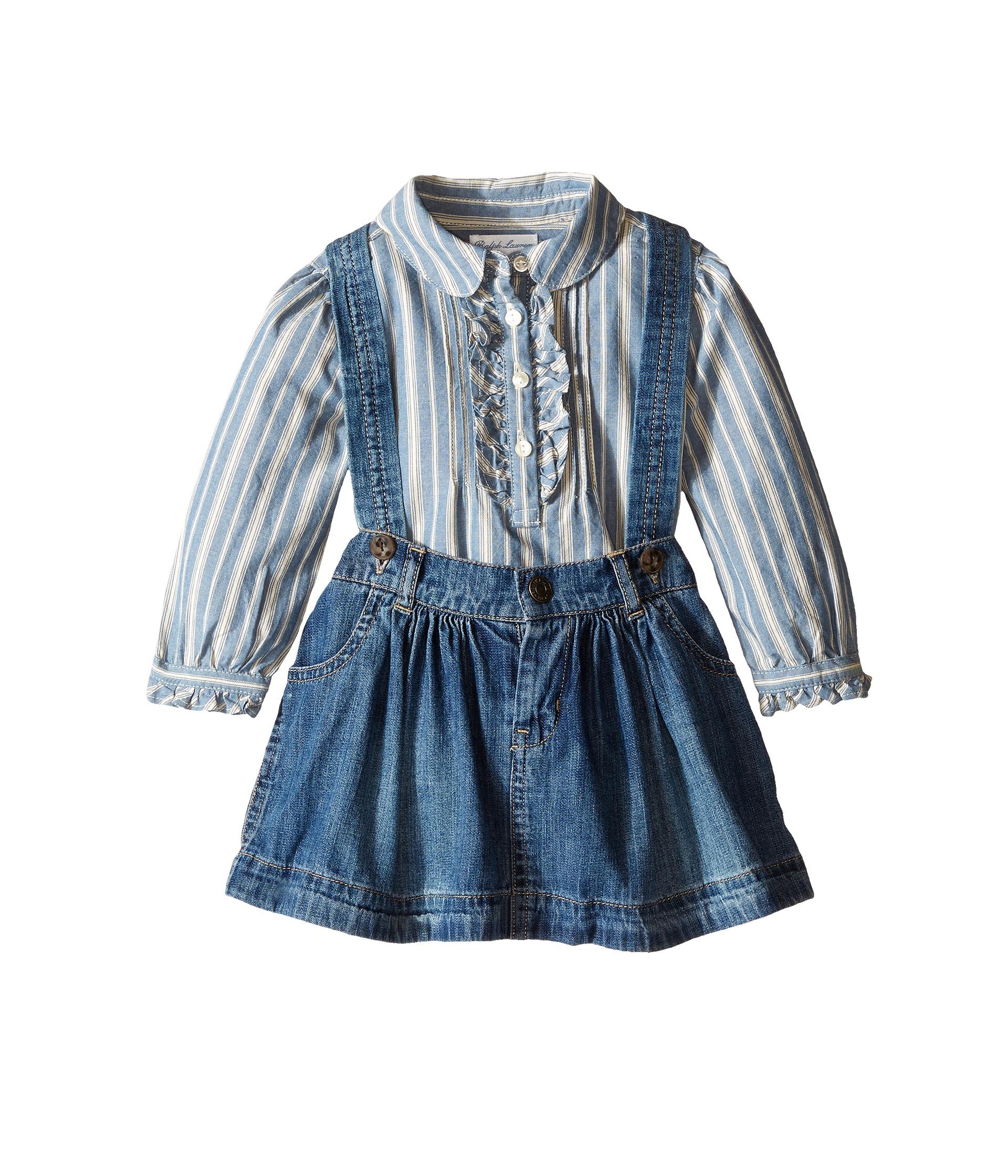 ralph baby lightweight denim skirt set infant