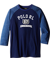 Polo Ralph Lauren Kids - Cotton Jersey Baseball Tee (Big Kids)