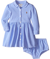 Ralph Lauren Baby - Knit Oxford Shirtdress (Infant)