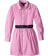 Polo Ralph Lauren Kids - Yarn-Dyed Bengal Stripe Dress (Little Kids)