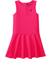 Polo Ralph Lauren Kids - Ponte Short Sleeve Pleated Dress (Little Kids)