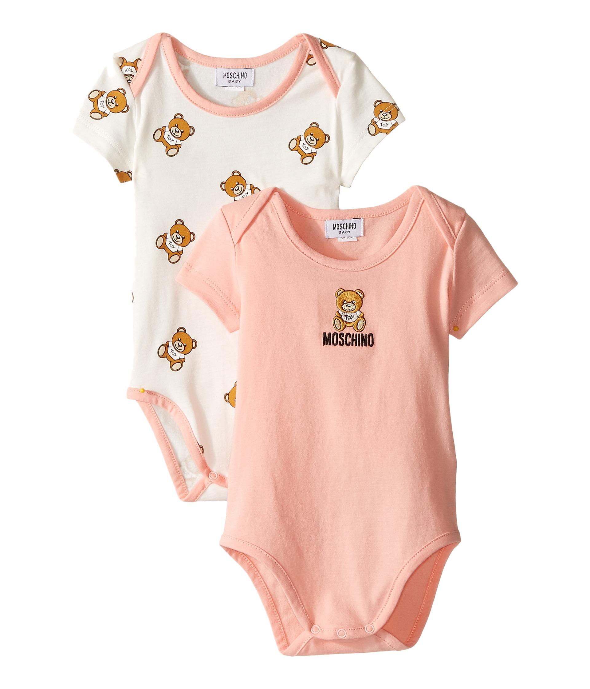 Moschino Kids 2 Pack Short Sleeve Bodysuit es In