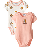 Moschino Kids - 2-Pack Short Sleeve Bodysuit Comes In Giftbox (Infant)