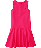 Polo Ralph Lauren Kids - Ponte Short Sleeve Pleated Dress (Little Kids/Big Kids)