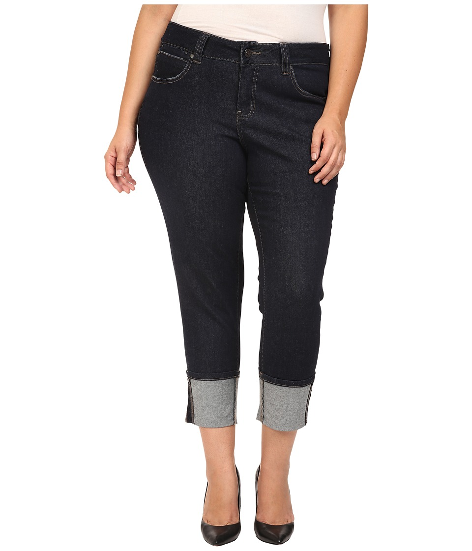 Jag Jeans Plus Size Plus Size Evan Long Cuff Slim Ankle in Rinse Capital Denim (Rinse) Women