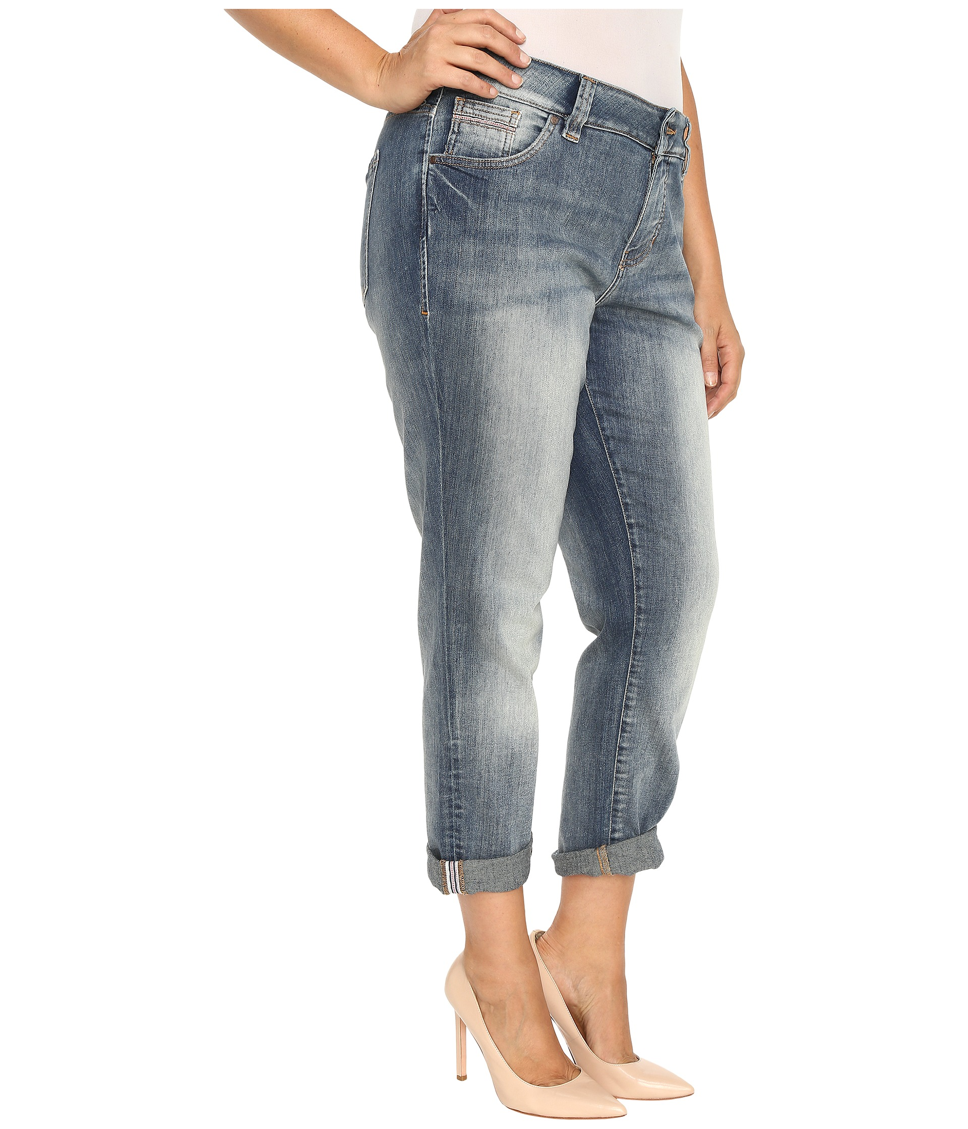 Jag Jeans Plus Size Plus Size Relaxed Boyfriend in Saginaw Blue Platinum Denim at Zappos.com