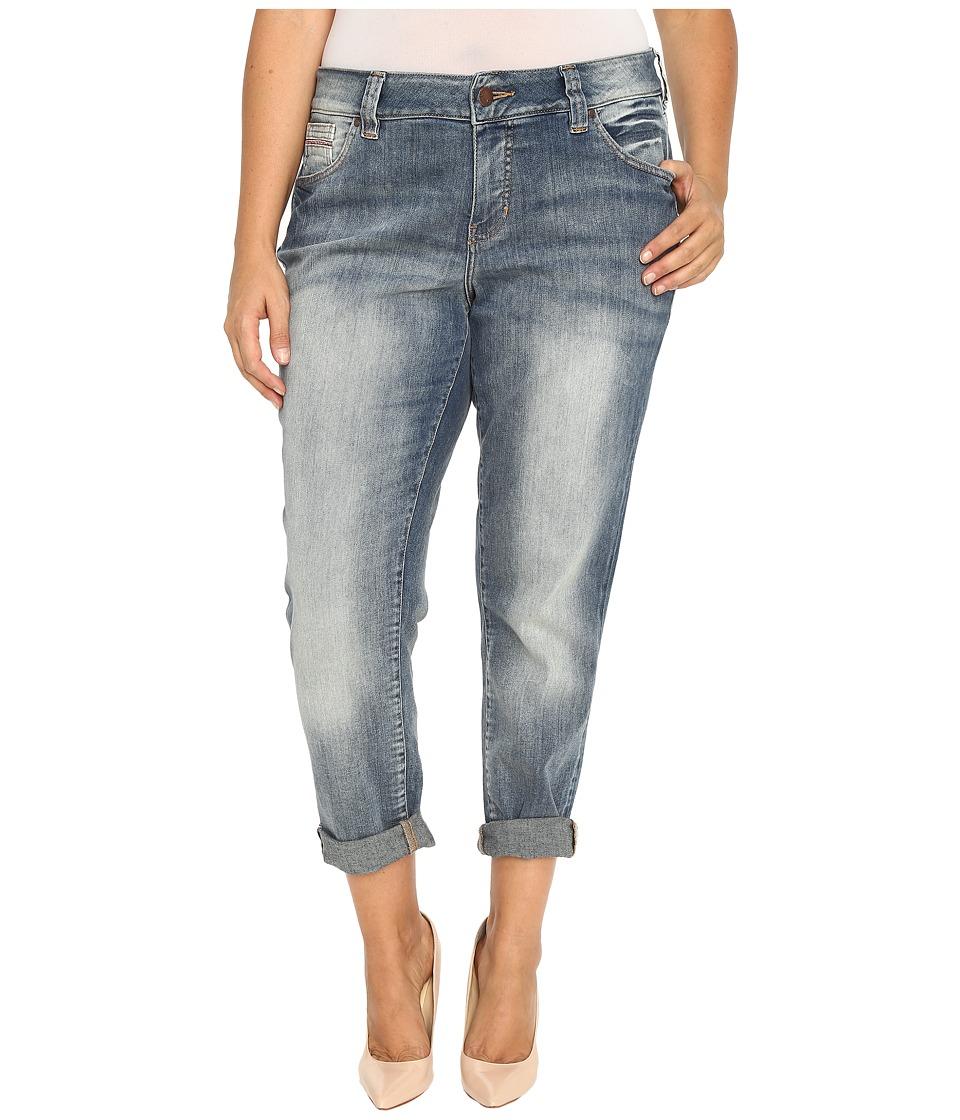 Jag Jeans Plus Size Plus Size Relaxed Boyfriend in Saginaw Blue Platinum Denim (Saginaw Blue) Women