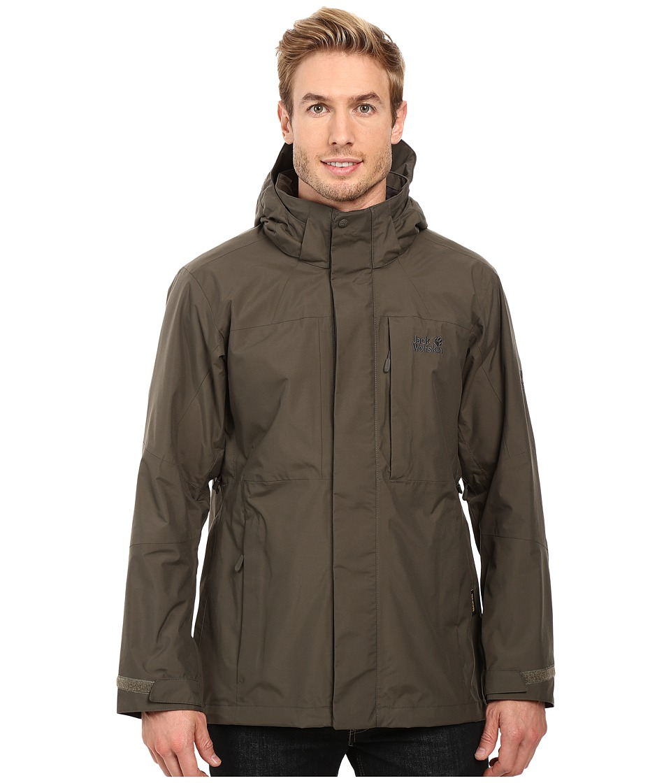 Jack Wolfskin Brooks Range Flex Jacket (Olive Brown) Men