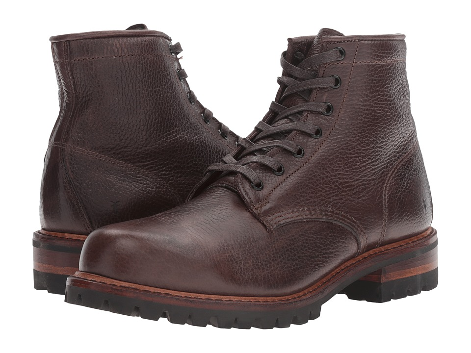 Frye Arkansas Mid Lace (Dark Brown) Men