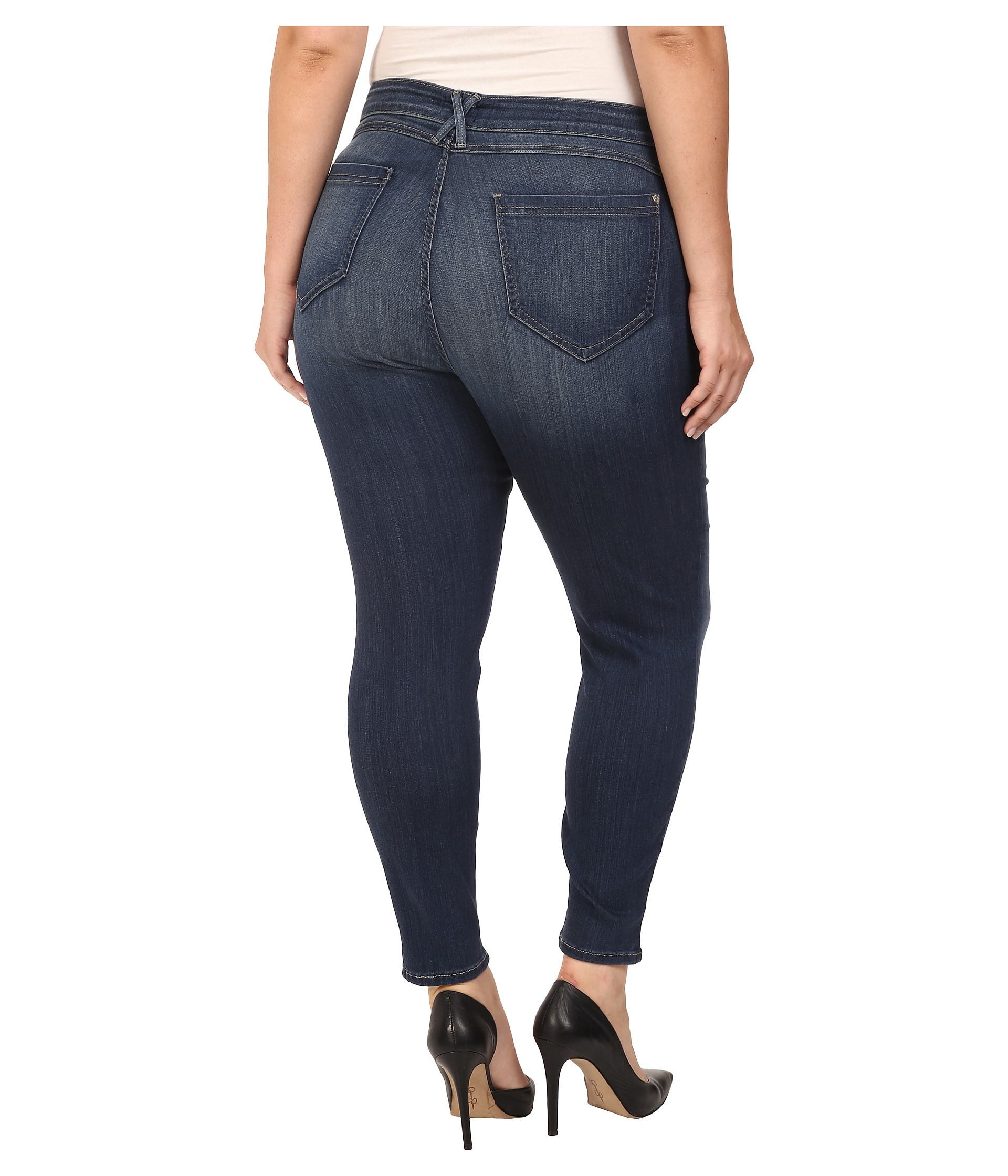 Wow best jeans ever!!!! Size 18's fit really comfy size 16's a lil tight. I have total like 8 pairs all in the light jean version. I get a lot of compliments on the from women and men alike. I highly recommend for plus size women. I'm 5 feet tall zero inches lbs. I've included pictures.4/5().
