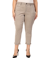NYDJ Plus Size - Plus Size Reese Relaxed Jeans in Colored Chino in Silver Elm