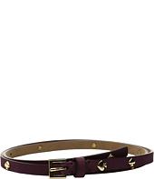 "Kate Spade New York - 1/2"" Nubuck Belt with Spade Rivets"