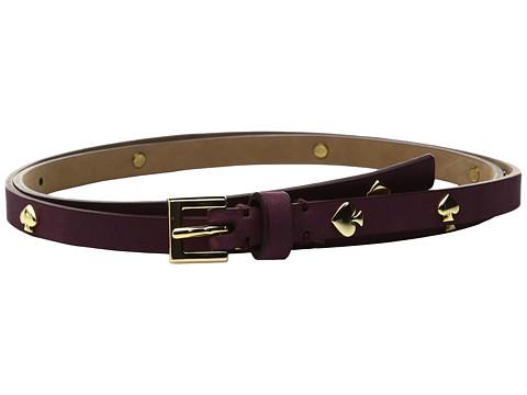 "Kate Spade New York 1/2"" Nubuck Belt with Spade Rivets"