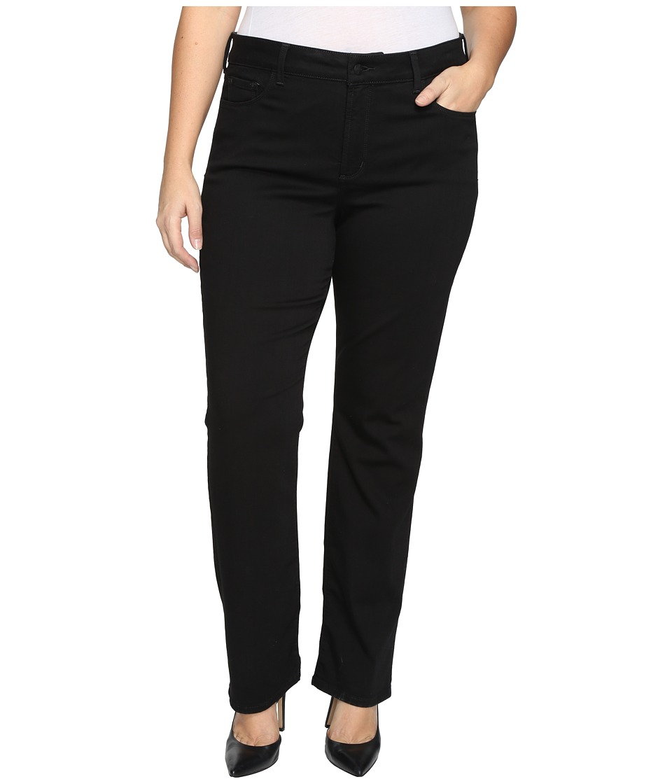 NYDJ Plus Size - Plus Size Marilyn Straight Jeans in Luxury Touch in Black