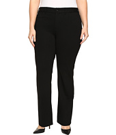NYDJ Plus Size - Plus Size Isabella Trousers in Ponte Knit in Black