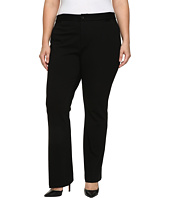 NYDJ Plus Size - Plus Size Teresa Modern Trousers in Knit Twill in Black