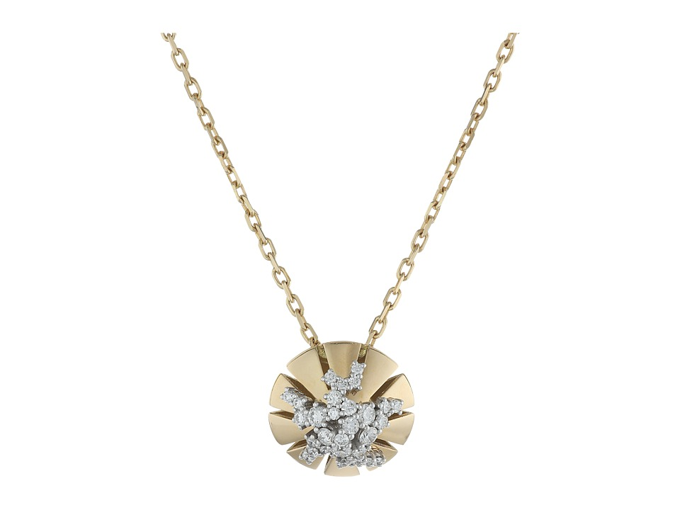 Miseno - Vesuvio 18k Gold/Diamond Necklace (Yellow Gold) Necklace