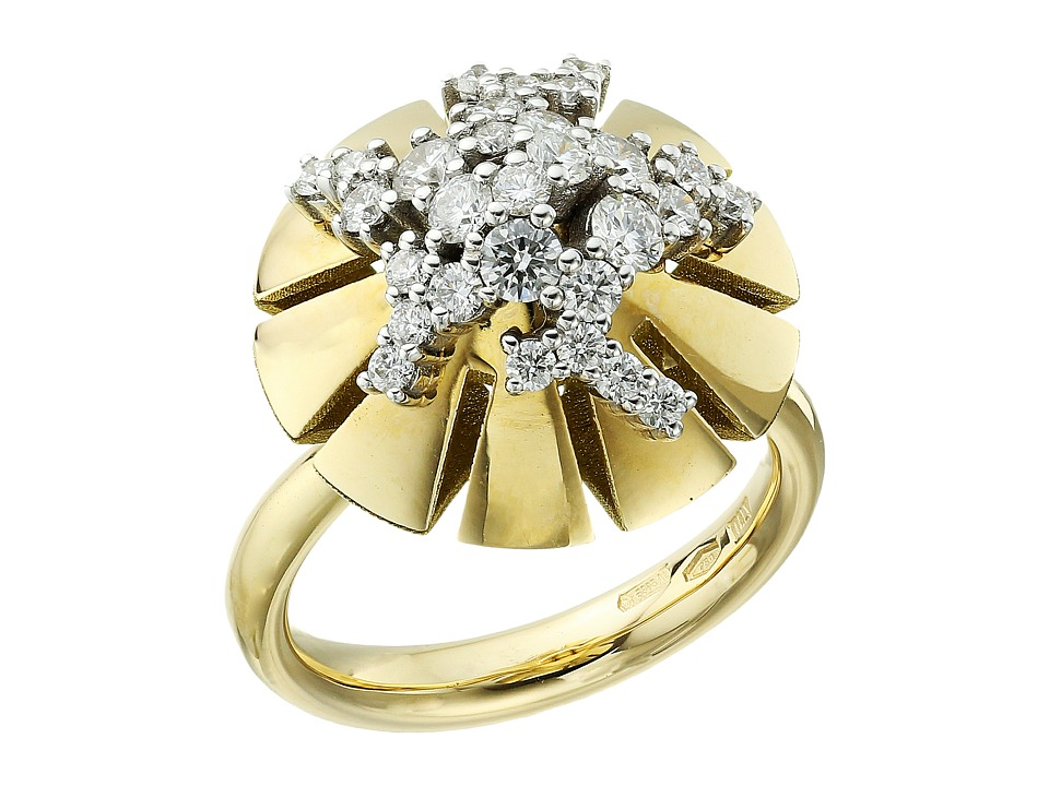 Miseno - Vesuvio 18k Gold/Diamond Ring (Yellow Gold) Ring