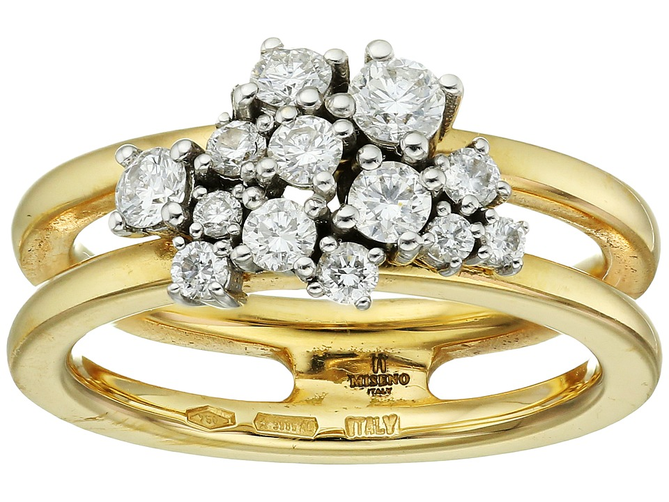 Miseno - Vesuvio 18k Gold Ring with diamonds (Yellow Gold) Ring
