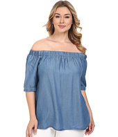 MICHAEL Michael Kors - Plus Size Denim Off Shoulder Short Sleeve Top